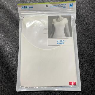 UNIQLO - 新品☆ユニクロ WOMEN エアリズムUネックT(半袖) Mサイズ ホワイト