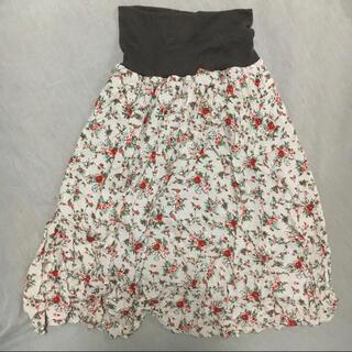 アルシーヴ(archives)のarchives*ミディ丈スカート 花柄 ふんわり かわいい フェミニン(ひざ丈スカート)