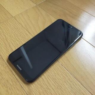 ファーウェイ(HUAWEI)のHuawei P20 Lite 32GB ブラック SimフリーYmobile (スマートフォン本体)
