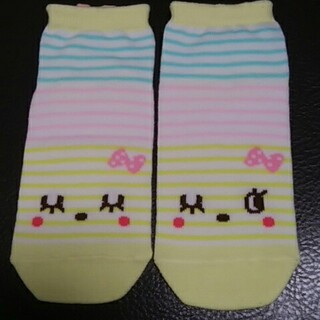 KP - KP  ソックス 17-19 靴下 パステルイエロー みみちゃん mimi