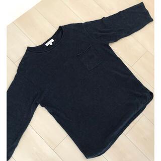 ビューティアンドユースユナイテッドアローズ(BEAUTY&YOUTH UNITED ARROWS)のBEAUTY & YOUTH ネイビー 七分袖 サマーニット(Tシャツ/カットソー(七分/長袖))