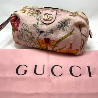 Gucci - 【真贋鑑定済・送料無料】GUCCI(グッチ)・花柄・コスメポーチ・日本限定レア