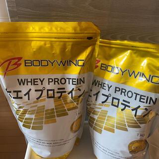 ボディウィング ホエイプロテイン 甘味料なし 1kg 2セット(プロテイン)