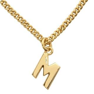 【 MSGM 】MSGM ロゴ M ネックレス ゴールド