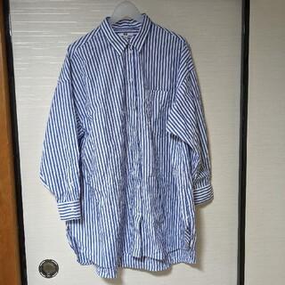 UNIQLO - UNIQLO 3XL エクストラファインコットンオーバサイズロングシャツ
