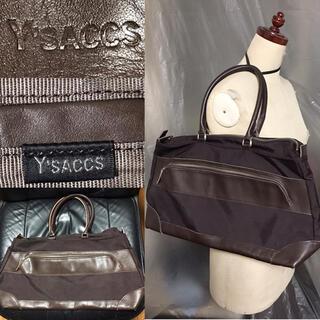新品近い美品Y'SACCSイザック送料込定価2〜3万円程レザー革バッグ鞄カバン(ビジネスバッグ)