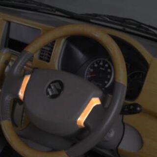 スズキ(スズキ)のREIZ(ライツ) DA17V エブリイバン ステアリングパネル ユーカリ茶木目(車内アクセサリ)
