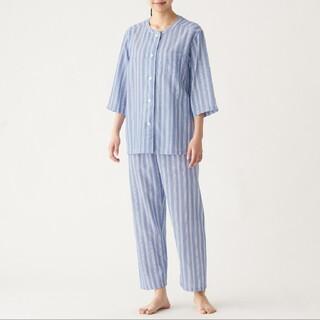 MUJI (無印良品) - 脇に縫い目のない 薄手ガーゼ 七分袖パジャマ
