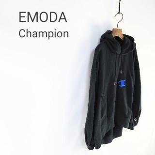 エモダ(EMODA)のEMODA Champion リバースウィーブ プルオーバーパーカー(パーカー)