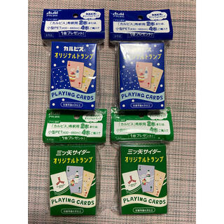 アサヒ(アサヒ)のアサヒ飲料 三ツ矢サイダー・カルピスオリジナルトランプ 4個セット カードゲーム(トランプ/UNO)