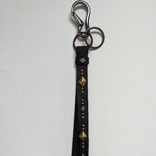 キャリー(CALEE)のハンドメイド キーリング ダイヤ 黒 30cm(キーホルダー)