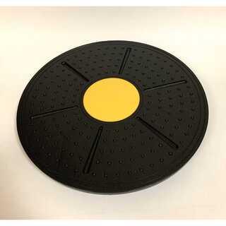 バランスボード ブラックイエロー ダイエット 体幹トレーニング エクササイズ(トレーニング用品)