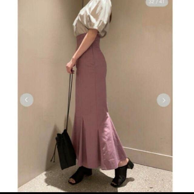snidel(スナイデル)の新品タグ付き★snidel ハイウエストヘムフレアスカート スナイデル レディースのスカート(ロングスカート)の商品写真