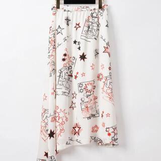 GRACE CONTINENTAL - スタープリントフレアスカート Diagram ロングスカート