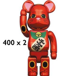 専用 BE@RBRICK 招き猫 梅金メッキ 400%×2個(その他)