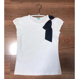 トッカ(TOCCA)の140 新品未使用 肩リボン Tシャツ トッカバンビーニ tocca  キッズ (Tシャツ/カットソー)