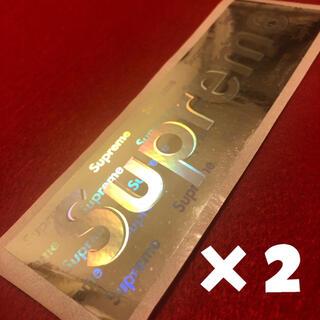 Supreme - supreme ホログラム ステッカー 大(約14センチ)2枚