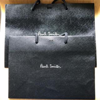 ポールスミス 紙袋 ショップ袋 2個セット 黒 ブラック