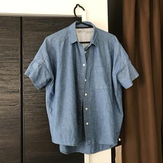 MUJI (無印良品) - 無印良品mujiデニムの半袖シャツmuji着丈70身幅60サイズM〜Lゆったり