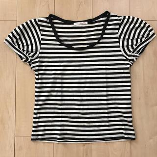 アバハウス(ABAHOUSE)のRouge Fonce ボーダー パフスリーブTシャツ トップス(Tシャツ(半袖/袖なし))