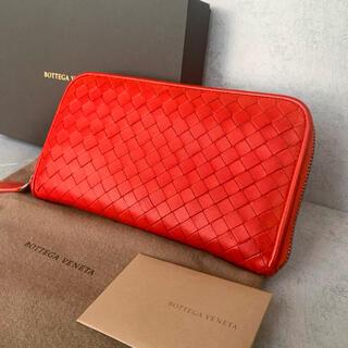 Bottega Veneta - 美品 ボッテガヴェネタ 長財布 赤 ラウンドファスナー