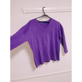 セブンデイズサンデイ(SEVENDAYS=SUNDAY)の紫 パープル 薄手ニット セブンデイズサンデー(ニット/セーター)