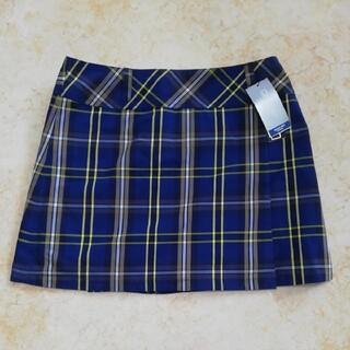 カッパ(Kappa)の新品未使用タグ付きカッパ、チェック柄ゴルフスカート、サイズ13号、XL。(ウエア)
