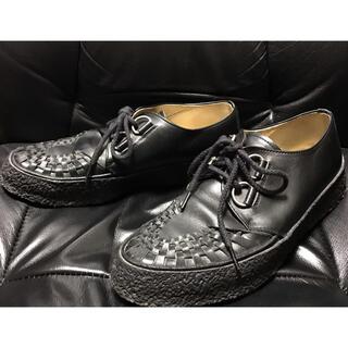 ラバーソール送料込レザー本革クレープソール靴シューズ27cmパンクロックROCK(その他)