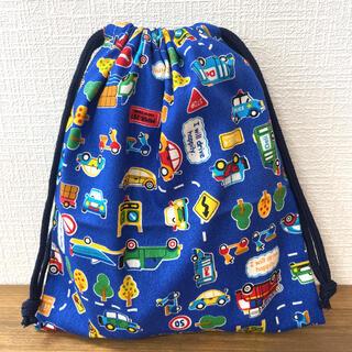 【2点100円、3点200円引き】クルマ柄巾着袋