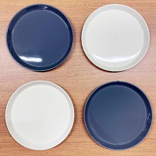 ハサミ(HASAMI)の波佐見焼・食器・Φ220プレート(4枚セット・グレー/ホワイト)(食器)