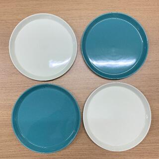 ハサミ(HASAMI)の波佐見焼・食器・Φ220プレート(4枚セット・ホワイト/グリーン)(食器)