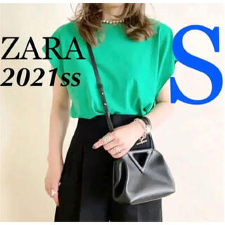 ZARA - ラスト1点 ZARA 新品♡ベーシックTシャツ S グリーン