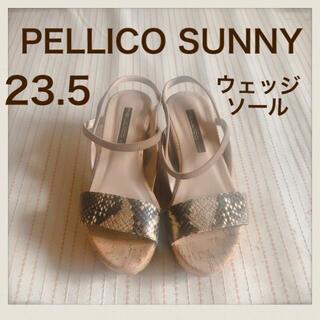 PELLICO - PELLICO SUNNIY パイソンウェッジソールサンダル