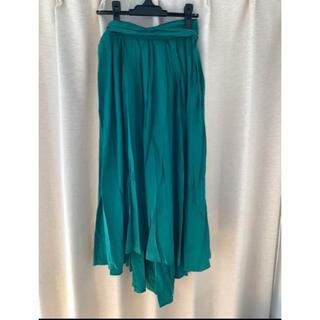 マーキュリーデュオ(MERCURYDUO)のマーキュリーデュオ グリーン スカート 美品(ロングスカート)