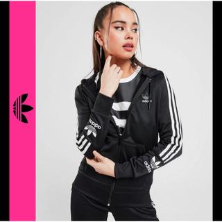 adidas - adidas アディダス フルジップ パーカー 黒 ブラック L 美品