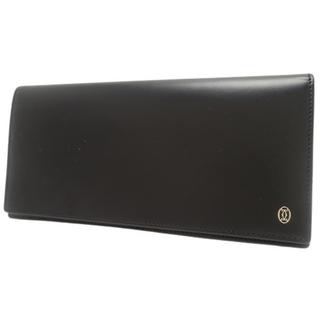 カルティエ(Cartier)のカルティエ パシャ 二つ折り長財布 カーフ ブラック黒 40800075094(長財布)