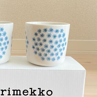marimekko - マリメッコ プケッティ ブルー ホワイト ラテマグ