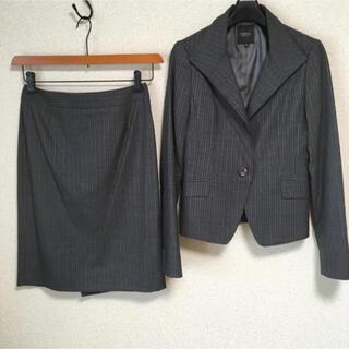 インディヴィ(INDIVI)のインディヴィ スカートスーツ 38 W68 グレー 春夏秋 未使用に近い DMW(スーツ)