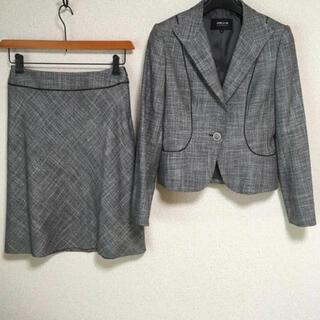 コムサイズム(COMME CA ISM)のコムサイズム スカートスーツ 上S下M W66 ラメ グレー OL DMW(スーツ)