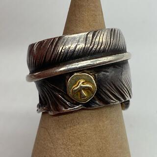 ゴローズ(goro's)のゴローズ 雰囲気抜群 小金メタル付フェザーリング10号(リング(指輪))