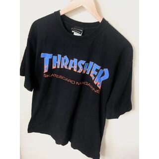 スラッシャー(THRASHER)のTHRASHER スラッシャー フレイムロゴ Tシャツ 古着 ストリート XLサ(Tシャツ/カットソー(半袖/袖なし))