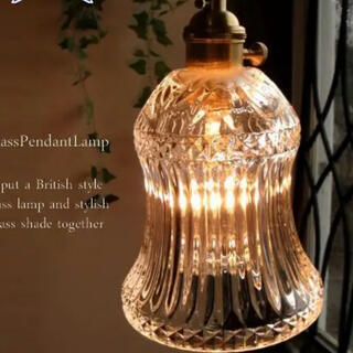 特価 真鍮ガラスペンダントランプ アンティークヨーロピアン風(天井照明)