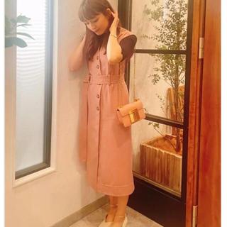 Lily Brown - ベルト付きステッチワンピース 川口春奈 着飾る恋 リリーブラウン
