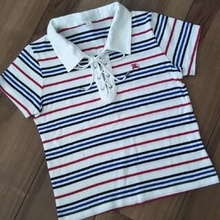 バーバリー(BURBERRY)のバーバリー  マリンボーダー  ポロシャツ 130 美品(Tシャツ/カットソー)