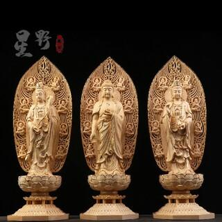 貴重古美術  切金  西方三聖  仏陀彫刻  仏教美術品 稀少珍品 精密細工(彫刻/オブジェ)