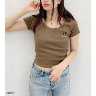 ジェイダ(GYDA)のGYDA MICKEY MOUSE リンガーテレコTシャツ(Tシャツ/カットソー(半袖/袖なし))