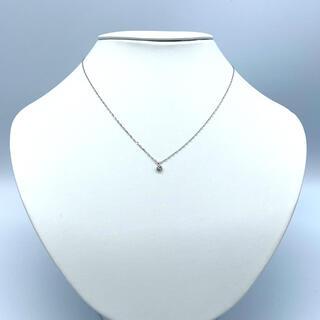K18WG  0.10ct ダイヤモンド ネックレス スライドピン仕様
