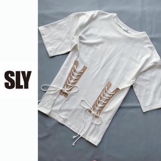 SLY - SLY デザインTシャツ レースアップT