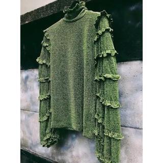 ステュディオス(STUDIOUS)のmother clio blouse green(シャツ/ブラウス(長袖/七分))