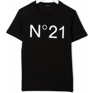 ヌメロヴェントゥーノ(N°21)の【新作】ヌメロヴェントゥーノ ロゴTシャツ ブラック 14(Tシャツ(半袖/袖なし))